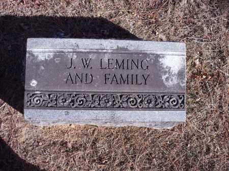 LEMING, J.W. [AND FAMILY] - Washington County, Arkansas   J.W. [AND FAMILY] LEMING - Arkansas Gravestone Photos