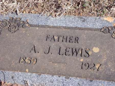 LEWIS, A.J. - Washington County, Arkansas   A.J. LEWIS - Arkansas Gravestone Photos
