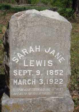 LEWIS, SARAH JANE - Washington County, Arkansas   SARAH JANE LEWIS - Arkansas Gravestone Photos