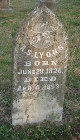 LYONS, A. S. - Washington County, Arkansas | A. S. LYONS - Arkansas Gravestone Photos