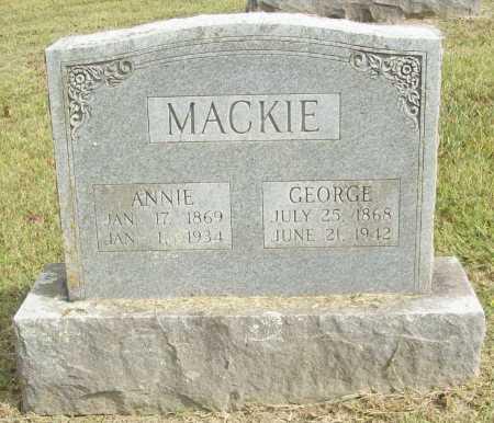 "SIMPSON MACKIE, ELIZABETH ANNE ""ANNIE"" - Washington County, Arkansas | ELIZABETH ANNE ""ANNIE"" SIMPSON MACKIE - Arkansas Gravestone Photos"