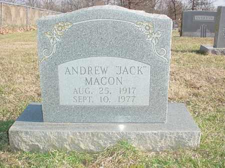 """MACON, ANDREW """"JACK"""" - Washington County, Arkansas   ANDREW """"JACK"""" MACON - Arkansas Gravestone Photos"""