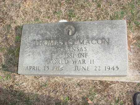 MACON (VETERAN WWII), THOMAS G. - Washington County, Arkansas | THOMAS G. MACON (VETERAN WWII) - Arkansas Gravestone Photos
