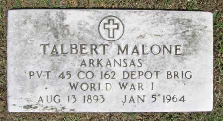 MALONE  (VETERAN WWI), TALBERT - Washington County, Arkansas   TALBERT MALONE  (VETERAN WWI) - Arkansas Gravestone Photos