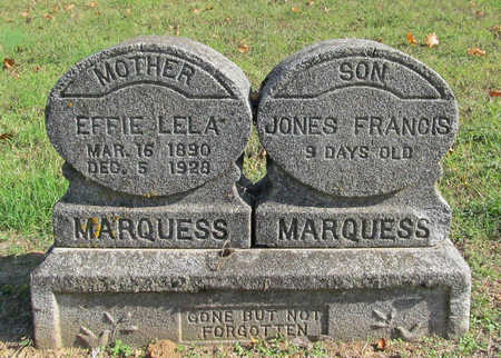 JONES MARQUESS, EFFIE LELA - Washington County, Arkansas | EFFIE LELA JONES MARQUESS - Arkansas Gravestone Photos