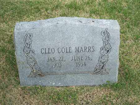 MARRS, CLEO COLE - Washington County, Arkansas | CLEO COLE MARRS - Arkansas Gravestone Photos
