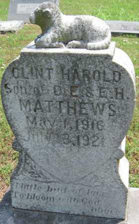 MATTHEWS, CLINT HAROLD - Washington County, Arkansas | CLINT HAROLD MATTHEWS - Arkansas Gravestone Photos