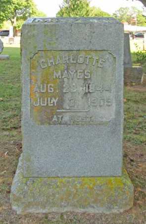 MAYES, CHARLOTTE - Washington County, Arkansas | CHARLOTTE MAYES - Arkansas Gravestone Photos