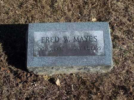 MAYES, FRED W. - Washington County, Arkansas | FRED W. MAYES - Arkansas Gravestone Photos
