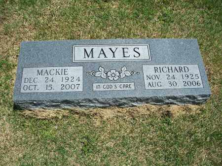 "MAYES, ROBBIE MAXINE ""MACKIE"" - Washington County, Arkansas 