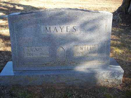 MAYES, AGNES - Washington County, Arkansas | AGNES MAYES - Arkansas Gravestone Photos