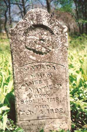 MAYFIELD, MATILDA - Washington County, Arkansas | MATILDA MAYFIELD - Arkansas Gravestone Photos
