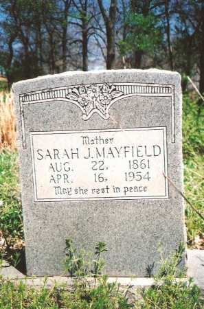 MAYFIELD, SARAH J - Washington County, Arkansas | SARAH J MAYFIELD - Arkansas Gravestone Photos