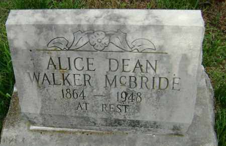 MCBRIDE, ALICE DEAN - Washington County, Arkansas | ALICE DEAN MCBRIDE - Arkansas Gravestone Photos