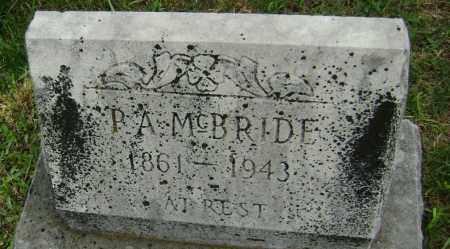 MCBRIDE, P. A. - Washington County, Arkansas   P. A. MCBRIDE - Arkansas Gravestone Photos