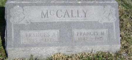 MCCALLY, FRANCES J. - Washington County, Arkansas | FRANCES J. MCCALLY - Arkansas Gravestone Photos