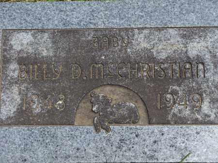 MCCHRISTIAN, BILLY D. - Washington County, Arkansas   BILLY D. MCCHRISTIAN - Arkansas Gravestone Photos