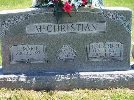 BROYLES MCCHRISTIAN, L. MARIE - Washington County, Arkansas   L. MARIE BROYLES MCCHRISTIAN - Arkansas Gravestone Photos