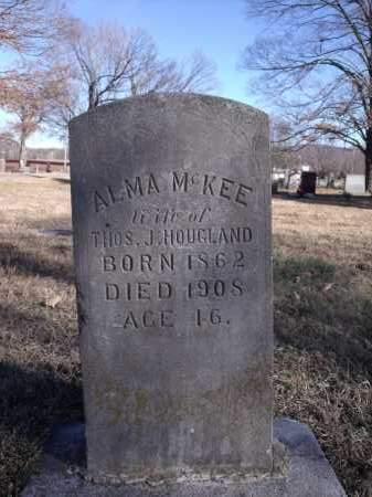 MCKEE HOUGLAND, ALMA - Washington County, Arkansas   ALMA MCKEE HOUGLAND - Arkansas Gravestone Photos