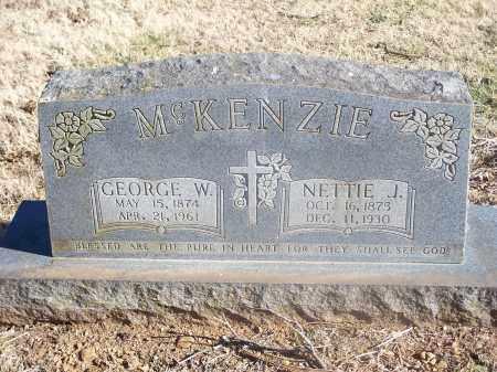 MCKENZIE, NETTIE J. - Washington County, Arkansas | NETTIE J. MCKENZIE - Arkansas Gravestone Photos