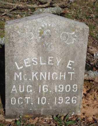 MCKNIGHT, LESLEY E - Washington County, Arkansas   LESLEY E MCKNIGHT - Arkansas Gravestone Photos
