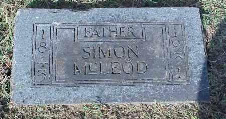MCLEOD, SIMON - Washington County, Arkansas   SIMON MCLEOD - Arkansas Gravestone Photos
