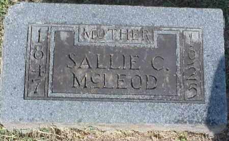 COPELAND MCLEOD, SALLIE - Washington County, Arkansas | SALLIE COPELAND MCLEOD - Arkansas Gravestone Photos