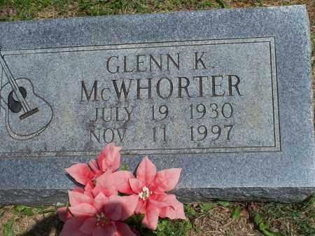 MCWHORTER, GLENN K. - Washington County, Arkansas   GLENN K. MCWHORTER - Arkansas Gravestone Photos