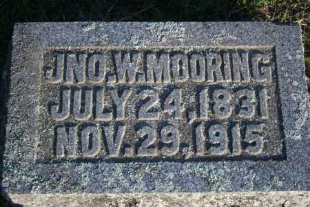 MOORING (VETERAN), JOHN W - Washington County, Arkansas | JOHN W MOORING (VETERAN) - Arkansas Gravestone Photos
