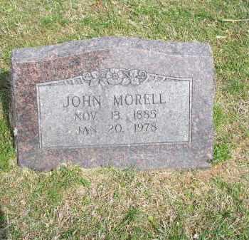 MORELL, JOHN - Washington County, Arkansas | JOHN MORELL - Arkansas Gravestone Photos