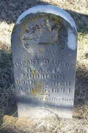 MORRISON, INFANT DAUGHTER - Washington County, Arkansas | INFANT DAUGHTER MORRISON - Arkansas Gravestone Photos