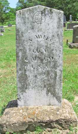 MYERS  (VETERAN CSA), ABRAHAM ANDERSON - Washington County, Arkansas   ABRAHAM ANDERSON MYERS  (VETERAN CSA) - Arkansas Gravestone Photos