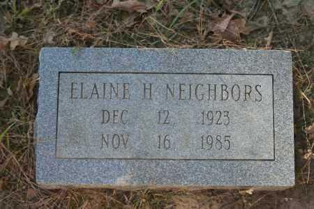NEIGHBORS, ELAINE H. - Washington County, Arkansas | ELAINE H. NEIGHBORS - Arkansas Gravestone Photos