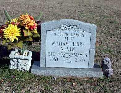 "NEVIN, WILLIAM HENRY ""BILL"" - Washington County, Arkansas | WILLIAM HENRY ""BILL"" NEVIN - Arkansas Gravestone Photos"