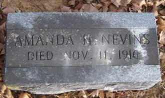 NEVINS, AMANDA H. - Washington County, Arkansas | AMANDA H. NEVINS - Arkansas Gravestone Photos