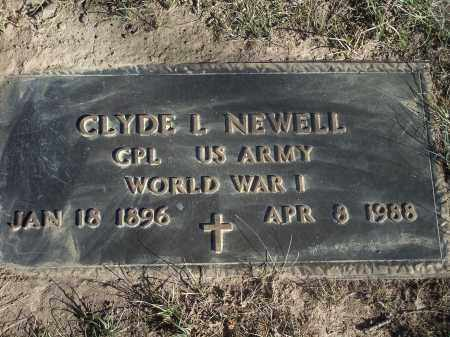 NEWELL (VETERAN WWI), CLYDE L - Washington County, Arkansas | CLYDE L NEWELL (VETERAN WWI) - Arkansas Gravestone Photos