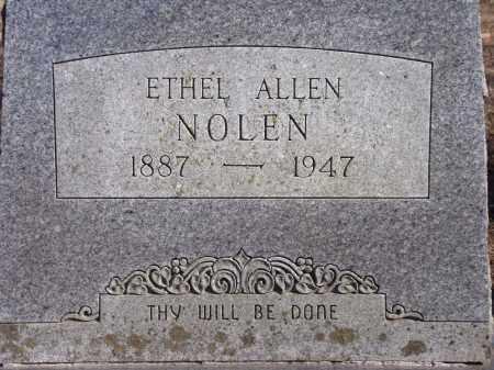 ALLEN NOLEN, ETHEL - Washington County, Arkansas | ETHEL ALLEN NOLEN - Arkansas Gravestone Photos