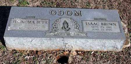 ODOM BURR, JUANOMA - Washington County, Arkansas | JUANOMA ODOM BURR - Arkansas Gravestone Photos