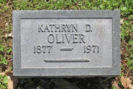 OLIVER, KATHRYN D - Washington County, Arkansas   KATHRYN D OLIVER - Arkansas Gravestone Photos