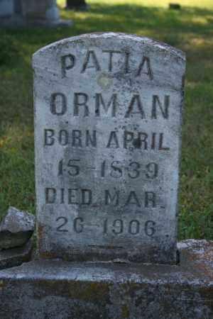 ORMAN, PATIA - Washington County, Arkansas | PATIA ORMAN - Arkansas Gravestone Photos
