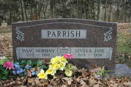PARRISH, ISAAC NORMAN - Washington County, Arkansas | ISAAC NORMAN PARRISH - Arkansas Gravestone Photos