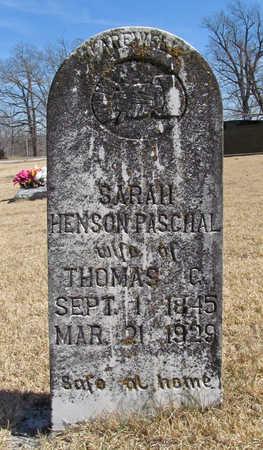 PASCHAL, SARAH - Washington County, Arkansas | SARAH PASCHAL - Arkansas Gravestone Photos