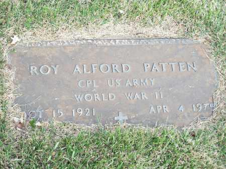 PATTEN (VETERAN WWII), ROY ALFORD - Washington County, Arkansas   ROY ALFORD PATTEN (VETERAN WWII) - Arkansas Gravestone Photos