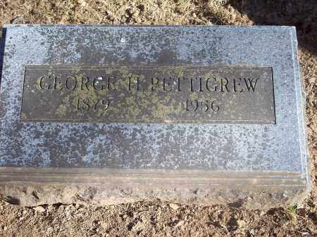 PETTIGREW, GEORGE H. - Washington County, Arkansas | GEORGE H. PETTIGREW - Arkansas Gravestone Photos