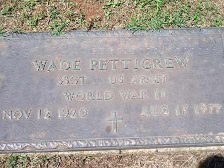 PETTIGREW (VETERAN WWII), WADE - Washington County, Arkansas | WADE PETTIGREW (VETERAN WWII) - Arkansas Gravestone Photos