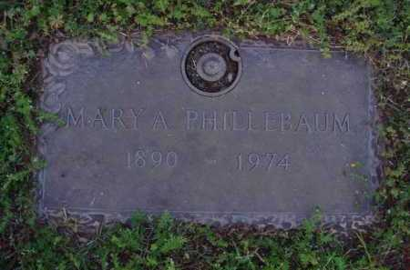 PHILLEBAUM, MARY A. - Washington County, Arkansas | MARY A. PHILLEBAUM - Arkansas Gravestone Photos