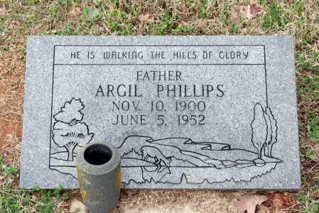 PHILLIPS, ARGIL - Washington County, Arkansas | ARGIL PHILLIPS - Arkansas Gravestone Photos