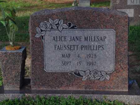 PHILLIPS, ALICE JANE - Washington County, Arkansas | ALICE JANE PHILLIPS - Arkansas Gravestone Photos