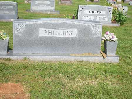 PHILLIPS, FAMILY STONE - Washington County, Arkansas   FAMILY STONE PHILLIPS - Arkansas Gravestone Photos