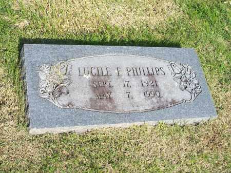 PHILLIPS, LUCILE F. - Washington County, Arkansas   LUCILE F. PHILLIPS - Arkansas Gravestone Photos